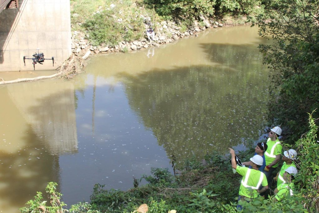SKW conducts drone bridge inspection with UMKC