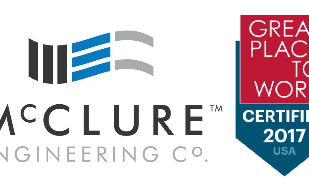 McClure Engineering Co. Named Great Place to Work