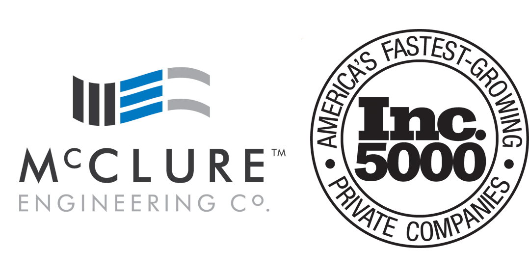 McClure Engineering Company named to Inc. 5000 Second Year in a Row