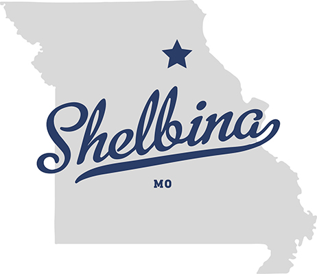 Shelbina Map Logo