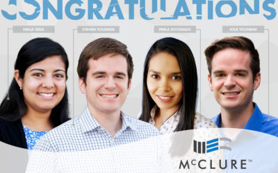 Four McClure Engineers Pass April 2019 PE Exam