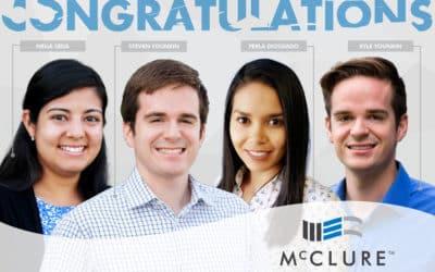 Four McClure Engineers Pass April 2019 PE Exam