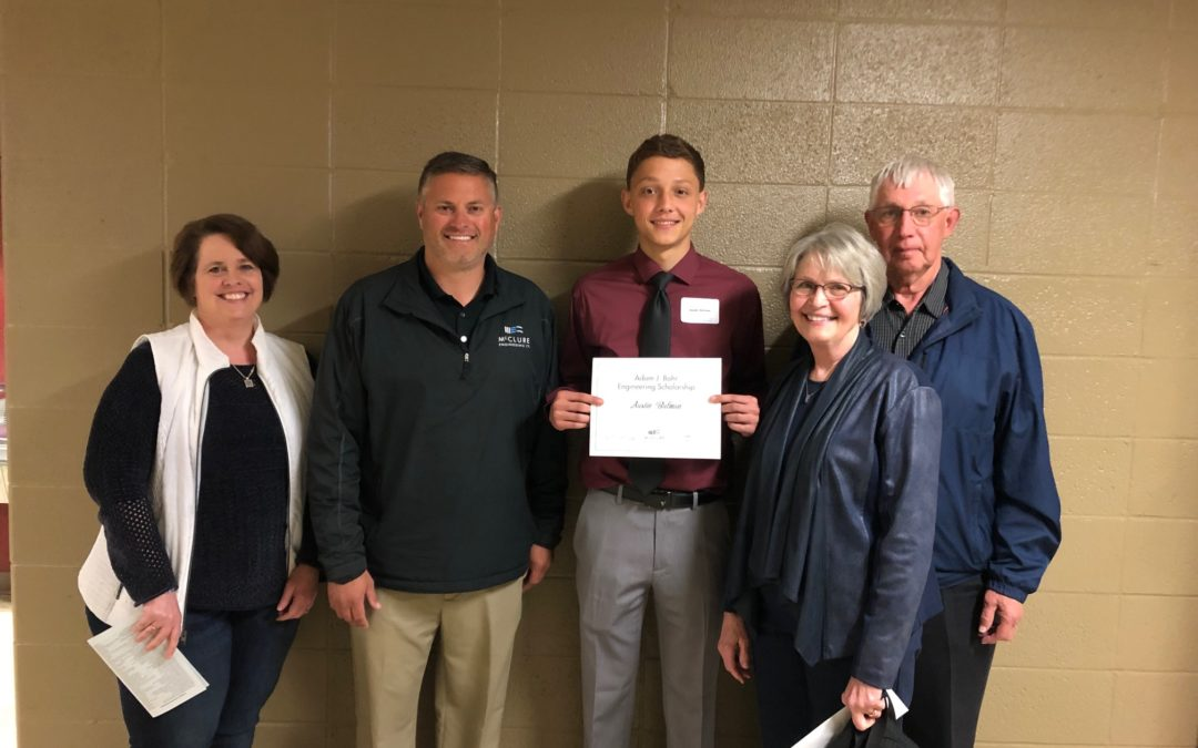 Austin Bulman Awarded Adam J. Bohr Memorial Engineering Scholarship